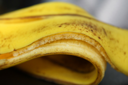 Banana peels can be almost as useful as the bananas themselves.