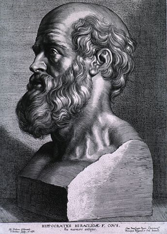 Hippocrates, the father of medicine, realized the healthful benefits of garlic 2400 years ago. (Sketch by Peter Paul Rubens)