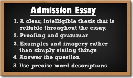 Science of Writing an Admission Essay