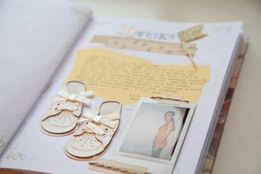 An example of a pregnancy journal. Every moment is precious.