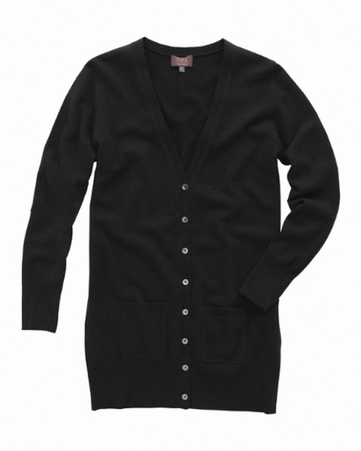 A black cardigan can be worn over anything.