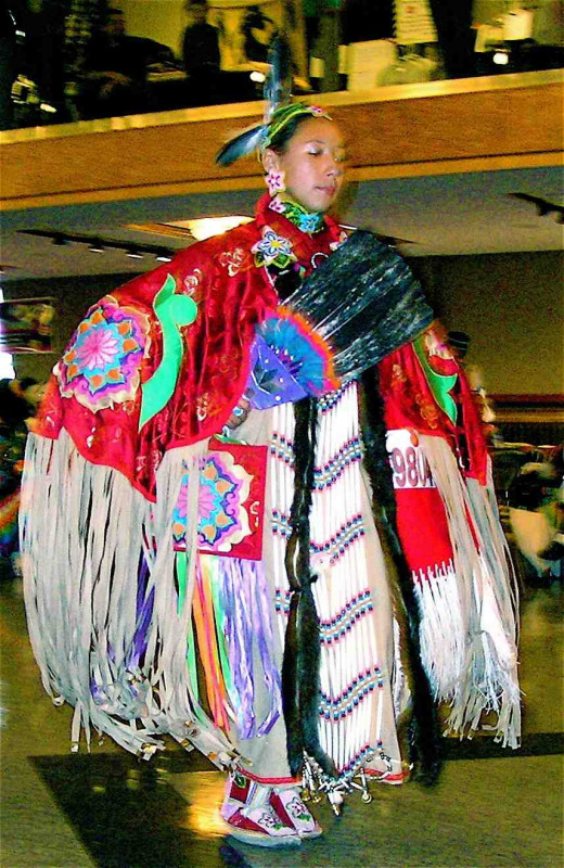 Last Chance Community Pow Wow 2007, Helena, Montana.  The women's regalia is incredibly beautiful.