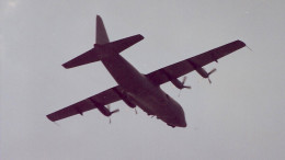 A C-130 over the Washington Mall, June 1991.