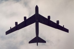 A B-52 over Washington, DC, June 1991.