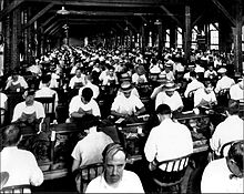 Workers in Ybor cigar factory - 1920