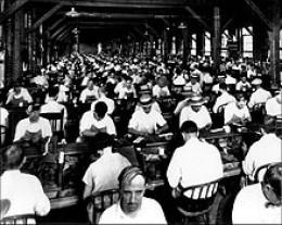 Workers in Ybor cigar factory - 1920