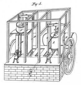 Schematic of John Gorrie's Ice Machine