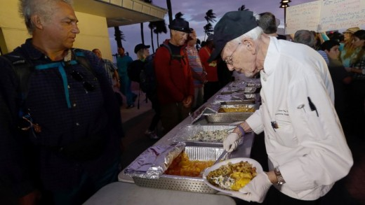 Arnold Abbott feeding the poor and homeless
