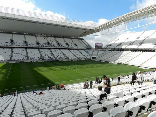 Arena Corinthians, pitch viewed from the west side