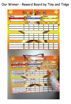 A review of Reward Charts/Behavior Charts for children
