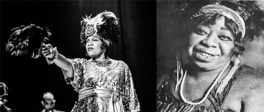 Left: Mo'Nique as Ma Rainey, Right: the Real Rainey