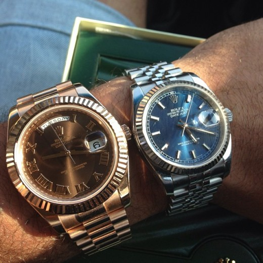 Rolex Datejust watch - his and hers