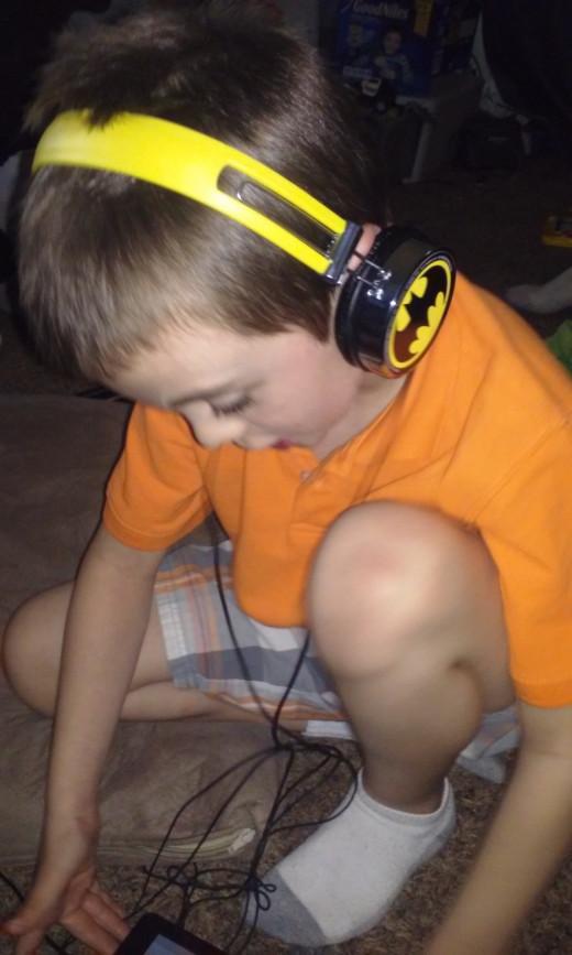 My 7 year old ADHD son =)