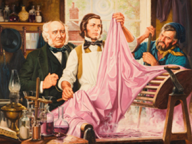 Picture Showing Dyeing Cloth