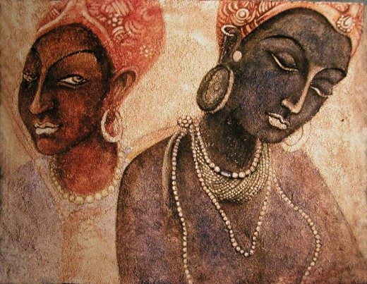 Ancient Ajanta Cave Paintings In India