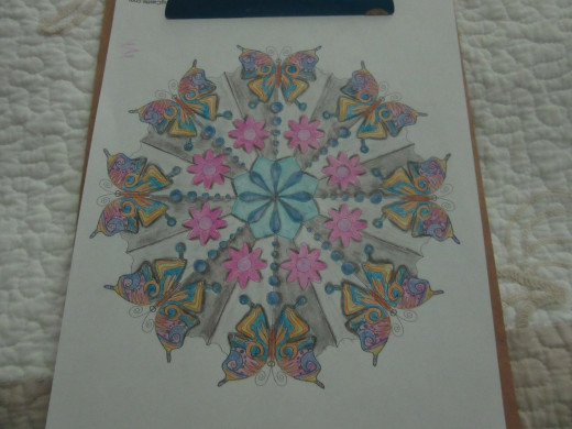 One of my mandalas-colored in May of 2015