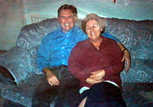 Eric with our mum in the 1990s.