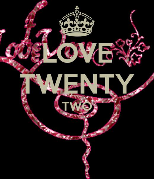 I'm feeling twenty-two!