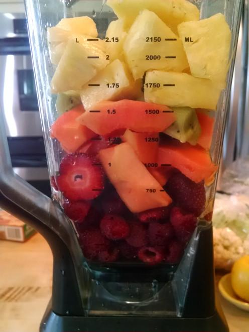 Fresh fruit for Vitamin C smoothie.