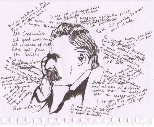 Nietzsche's philosophy was one of naught: he often sought to tear down that which others had built.