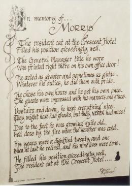 In memory of Morris...