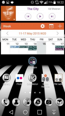 Music & Calendar Widgets