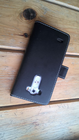 Black Leather Flip Back