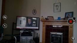 Minimal on screen clutter