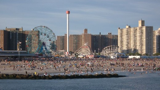 Coney Island beach area as of July 2007.