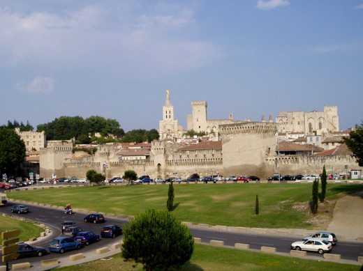 The Papal Palace and city walls