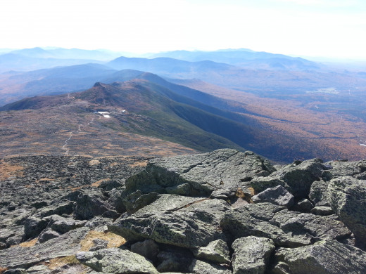 The Appalachian Trail, among several others, leads hikers up the rocky wilderness to the top of Mt. Washington.