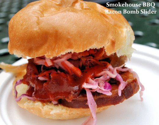 BBQ slider - one of many dishes available at Taste of Edmonton.
