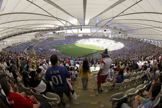 Internal view of Maracanã Stadium during 2014 FIFA World Cup Final, between Argentina and Germany