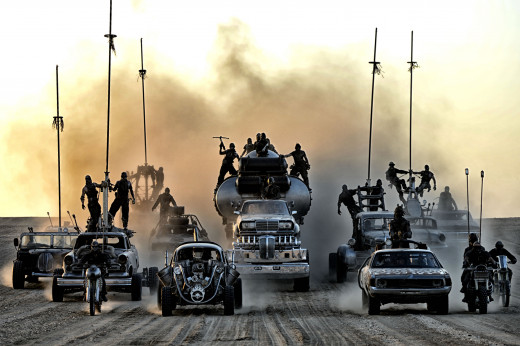 This picture doesn't even really do justice to the vehicles of this film.