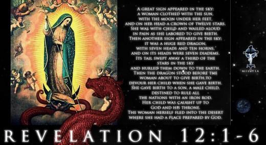 The Woman (Israel) and the Dragon (Satan).