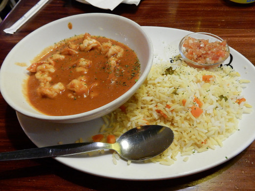 Prawn Malai Curry served with Pulao
