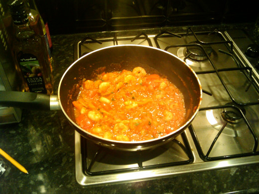 Curry is nearly done, boiling at this stage