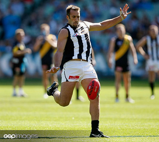 Anthony Rocca (Collingwood) is one of the all-time great long kicks (The Roar)