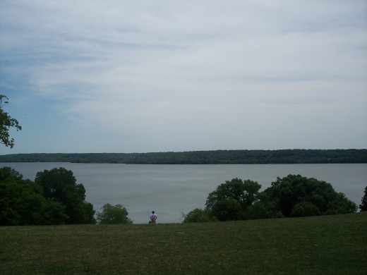 The view of the Potomac River from Mount Vernon