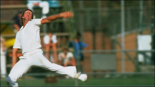 Renowned for his slingshot action, many regard Jeff Thompson as the fastest bowler of all-time (BBC)