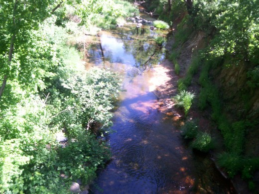 A view from above the creek.