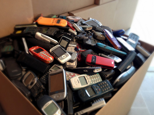 Cell phones are often discarded, but could be redistributed.