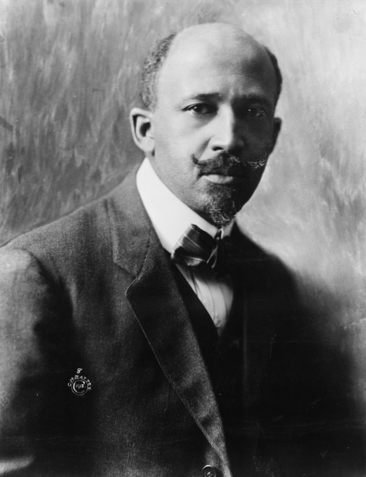 A picture of WEB DuBois in taken 1918, He was a major champion for Classical Education for people of color, including former slaves.