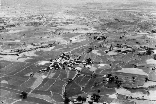 Bird's eye view of Islamabad in 1962
