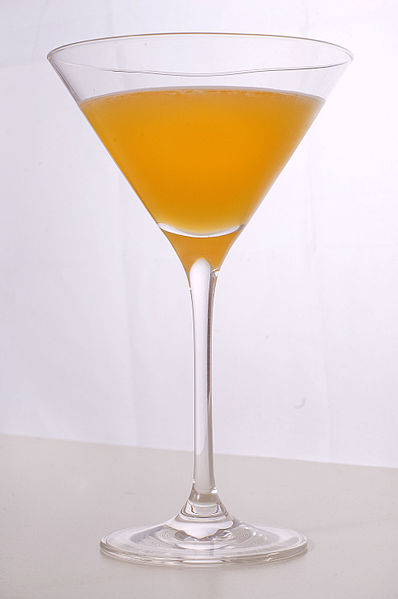 A Perfect Martini with orange juice added.