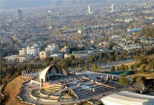 Bird's eye view of Islamabad