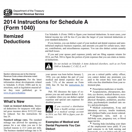 The IRS has current and prior year instructions and forms on www.irs.gov