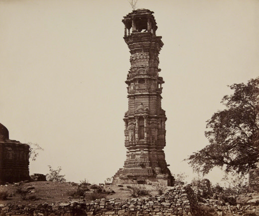 An image of the Tower of Victory at Chittorgarh, India.