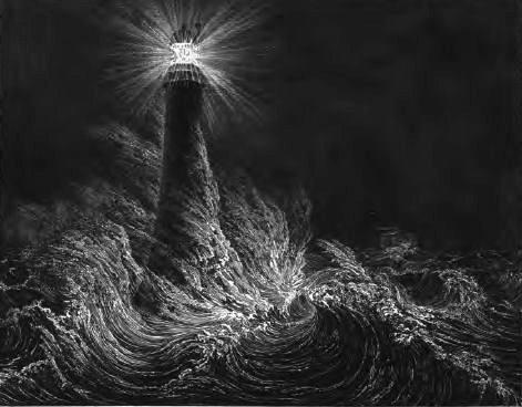 Bell Rock Lighthouse 1861 by Miss Stevenson