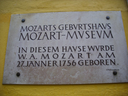 The birthplace of Mozart is now a museum.